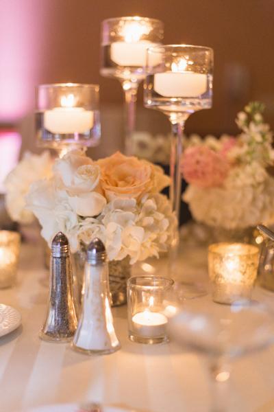 la-vie-en-rose-wedding-centerpiece-reception-floating-candle-peony-hydrandgea-mercury-votive-carillon-hilton-hotel-st-petersburg-florida