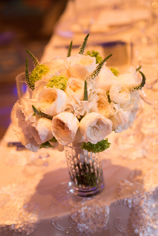 la-vie-en-rose-wedding-reception-table-linens-centerpiece-candles-sweetheart-table-mirrored-vase-half-crescent-moon-table-garden-rose-veronica-peony-bridesmaids-bridal-bouquet-glass-beaded-chargers-floral-arrangements-hydrangeas-white-roses-hypericum-berries-green-fern-tulips-calla-lily-menu-napkins-floating-candle-stems-elegant-romantic-love-specialty-linen-happily-ever-after-waldorf-astoria