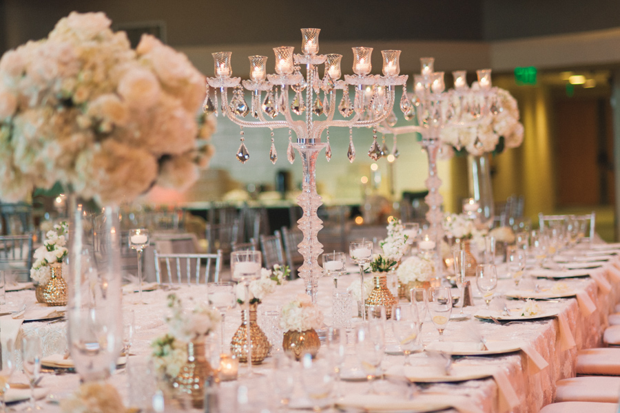 la-vie-en-rose-tampa-bay-Clearwater-wedding-reception-floating-candles-candelabra-mercury-vases-tall-arrangements-decor-floral-arrangements-table-specialty-linens-dupioni-centerpieces-tall-low-wedding-party-roses-hydrangeas-spray-roses-white-tones-blush-eucalyptus-silver-chiavari-chairs-silver-beaded-chargers-ivory-linens-lace-specialty-overlay-napkins-romantic-elegant-Ruth-Eckerd-Hall