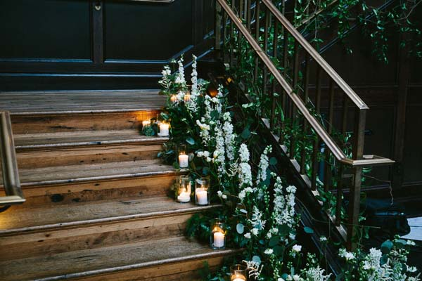 la-vie-en-rose-tampa-bay-Florida-wedding-bride-groom-wedding-love-ceremony-staircase-reception-backdrop-flowers-bridal-bouquet-boutonniere-greenery-garland-white-blooms-trendy-fashion-candles-blush-ivory-elegant-The-Oxford-Exchange