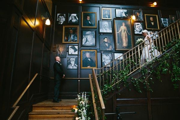 la-vie-en-rose-tampa-bay-Florida-wedding-bride-groom-wedding-love-ceremony-staircase-reception-backdrop-flowers-bridal-bouquet-boutonniere-greenery-garland-white-blooms-trendy-fashion-blush-ivory-elegant-The-Oxford-Exchange