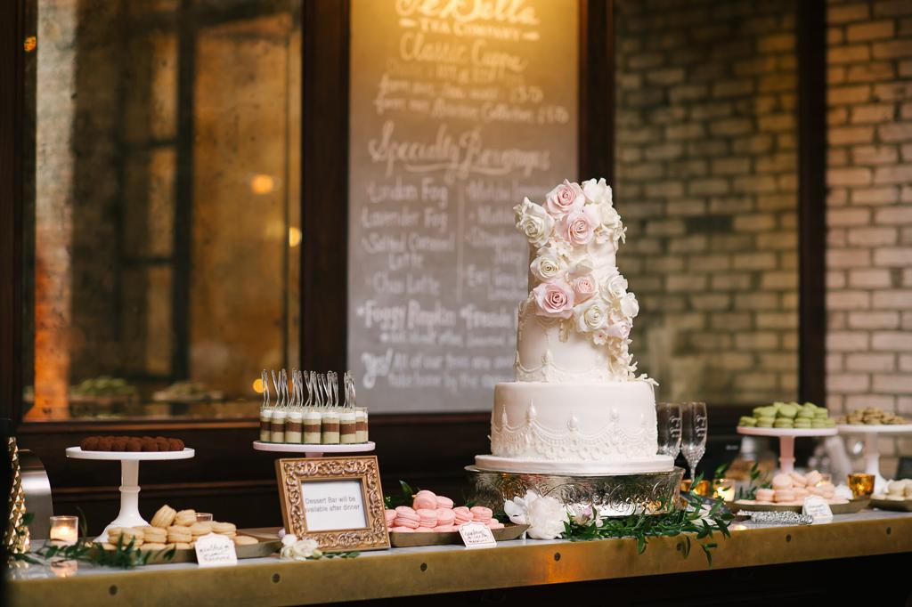 La-vie-en-rose-tampa-florida-wedding-gorgeous-reception-cake-white-ivory-blush-peony-garden-flower-eucalyptus-elegant-oxford-exchange