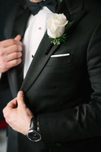 La-vie-en-rose-tampa-florida-wedding-boutonniere-ceremony-white-ivory-peony-garden-flower-eucalyptus-elegant-oxford-exchange