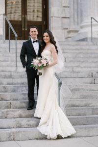 La-vie-en-rose-tampa-florida-wedding-gorgeous-bride-bouquet-ceremony-white-ivory-pink-garden-flower-eucalyptus-elegant-oxford-exchange