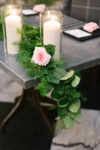La-vie-en-rose-tampa-florida-wedding-gorgeous-reception-garland-pink-flower-elegant-oxford-exchange