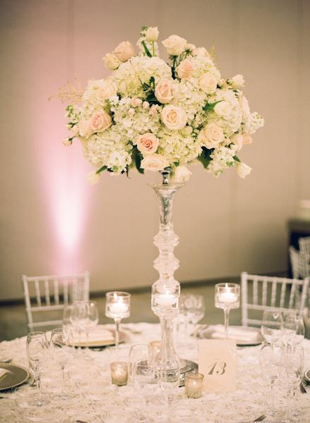 La-vie-en-rose-miami-florida-wedding-centerpiece-reception-white-ivory-blush-flower-crystal-candelabra-elegant-ritz-carlton-south-beach