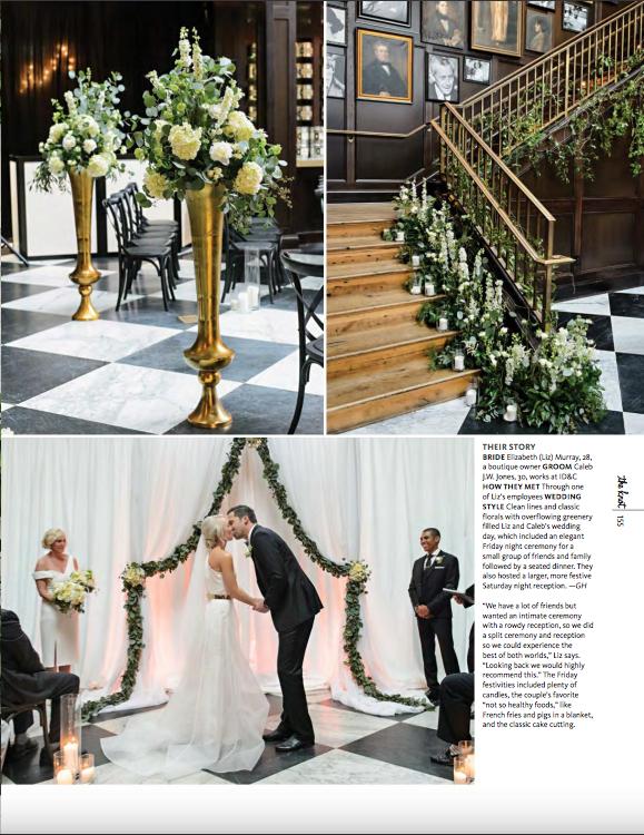 La-vie-en-rose-tampa-florida-wedding-ceremony-arch-white-hydrangea-garden-flower-garland-eucalyptus-elegant-oxford-exchange