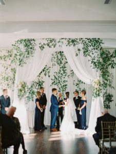 La-vie-en-rose-tampa-florida-wedding-ceremony-gorgeous-chuppah-drape-white-ivory-hydrangea-flower-eucalyptus-vine-elegant-orlo