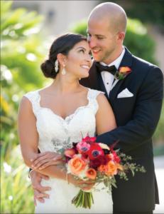 La-vie-en-rose-tampa-florida-wedding-bride-bouquet-white-ivory-red-orange-elegant-grand-hyatt