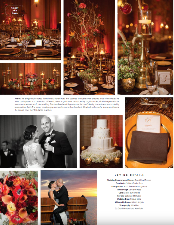 La-vie-en-rose-tampa-florida-wedding-reception-white-ivory-red-orange-elegant-grand-hyatt