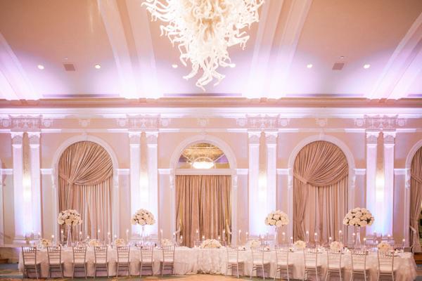 La-vie-en-rose-st-pete-florida-wedding-reception-white-blush-flower-head-table-elegant-vinoy