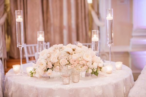 La-vie-en-rose-st-pete-florida-wedding-reception-white-blush-flower-sweetheart-table-elegant-vinoy