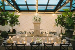La-vie-en-rose-tampa-florida-wedding-reception-white-runner-ivory-gold-garden-flower-fountain-elegant-oxford-exchange