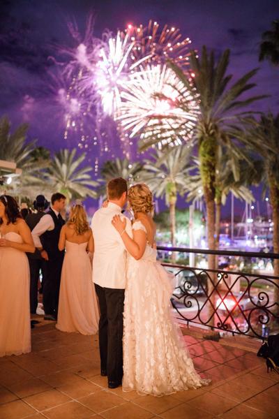 La-vie-en-rose-st-pete-florida-wedding-reception-white-blush-fireworks-elegant-vinoy
