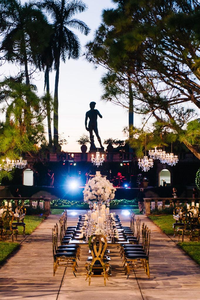 La-vie-en-rose-sarasota-florida-wedding-white-reception-centerpiece-crystal-candelabra-elegant-ringling-museum