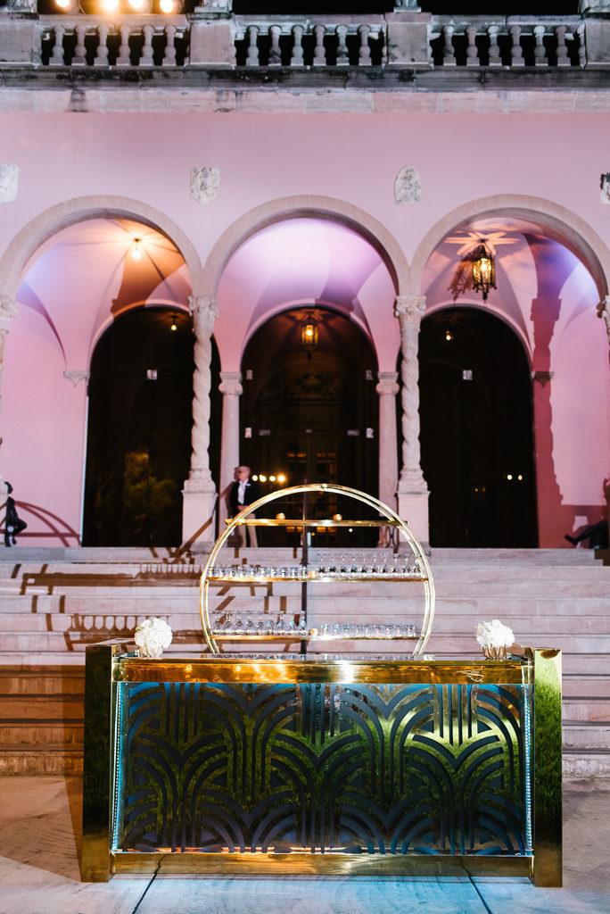La-vie-en-rose-sarasota-florida-wedding-white-reception-flower-bar-elegant-lighting-ringling-museum