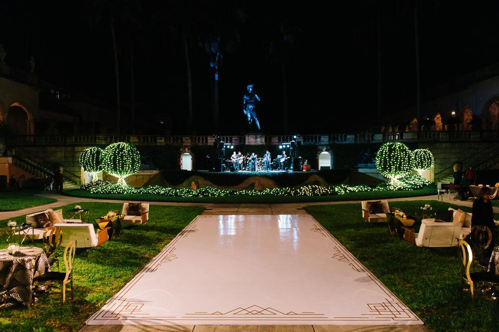 La-vie-en-rose-sarasota-florida-wedding-white-reception-flower-dance-elegant-lighting-ringling-museum