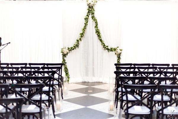 La-vie-en-rose-tampa-florida-wedding-white-garden-flower-eucalyptus-ceremony-garland-elegant-oxford-exchange
