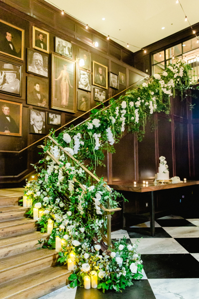 La-vie-en-rose-tampa-florida-wedding-white-orchid-flower-staircase-elegant-oxford-exchange