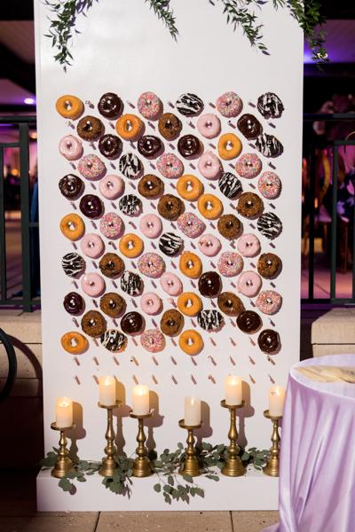 La-vie-en-rose-sarasota-florida-wedding-white-purple-donut-wall-elegant-ritz-carlton-club