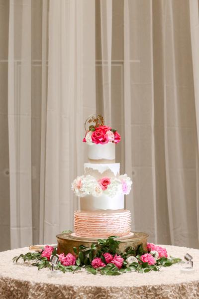 La-vie-en-rose-tampa-florida-wedding-white-pink-cake-elegant-hyatt