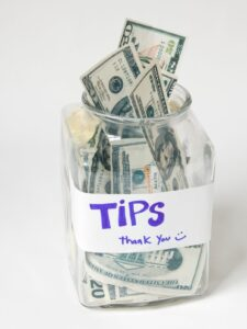 tipping your house cleaner