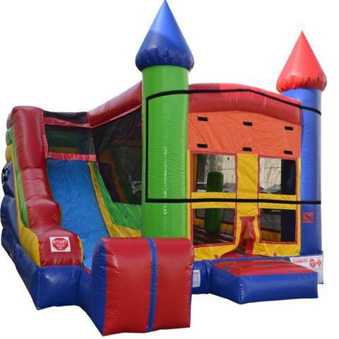 Bouncy Castle Moonbounce Slide Combo