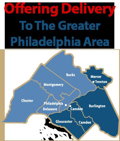 Service Philadelphia, Bucks, Montgomery, Delaware, Chester, Mercer, Camden, Burlington, and Gloucester Counties
