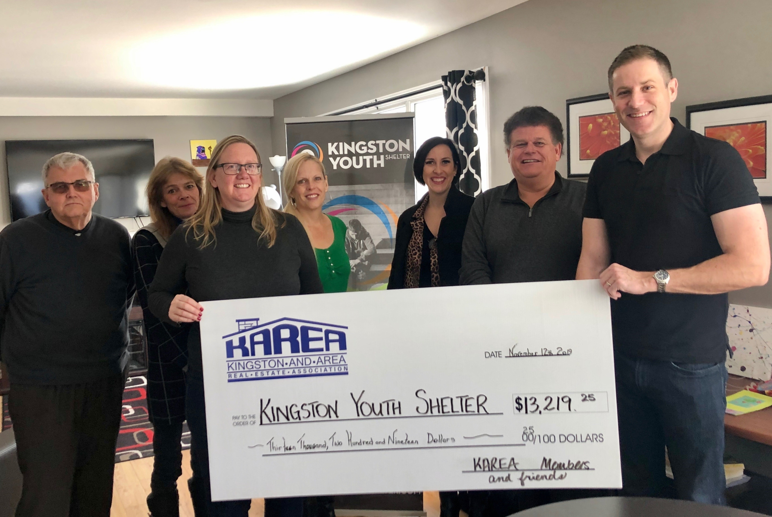 Cheque Presentation to Kingston Youth Shelter
