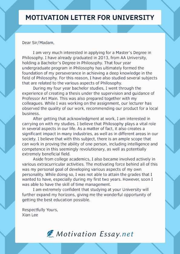 How to Write a Motivation Letter for University Admission