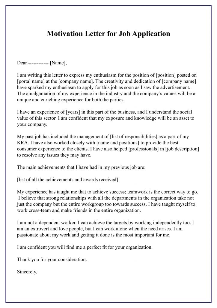 How to Write Motivation Letter For Job