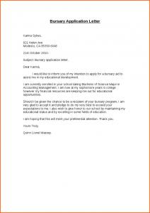Motivation Letter For Bursary Sample PDF