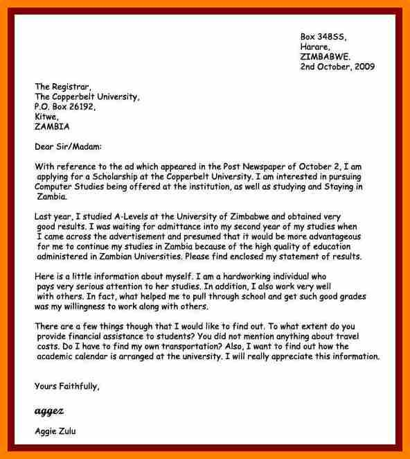 Motivation Letter for Masters in Computer Science