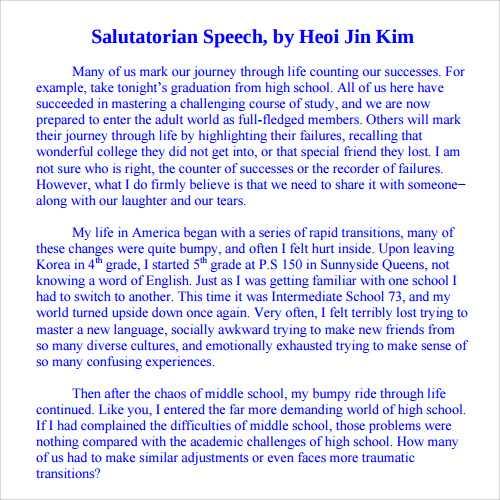 Salutatorian-Speech-Sample