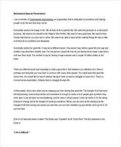 Motivational Speech Examples PDF