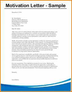 Motivation Letter to Apply For a Job