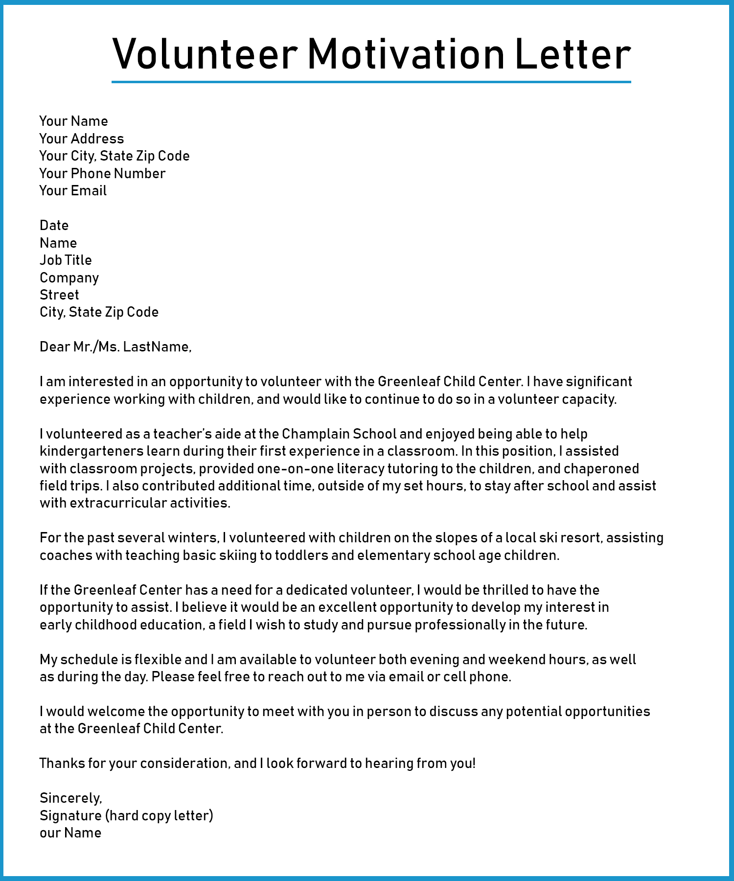 Volunteer-Motivation-Letter