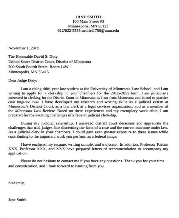 Motivation Letter for Law Students