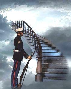 Marine Guasrd stairway to hevan