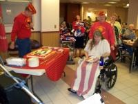 Ralph with oldest Woman Marine.JPG