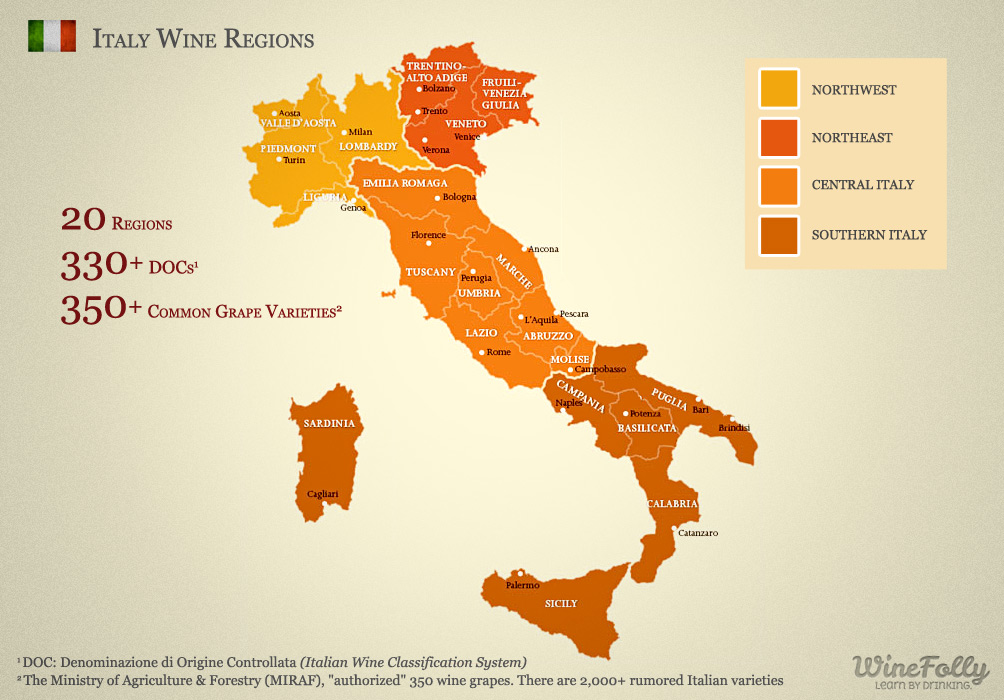A Brief Tour of Italian Wines