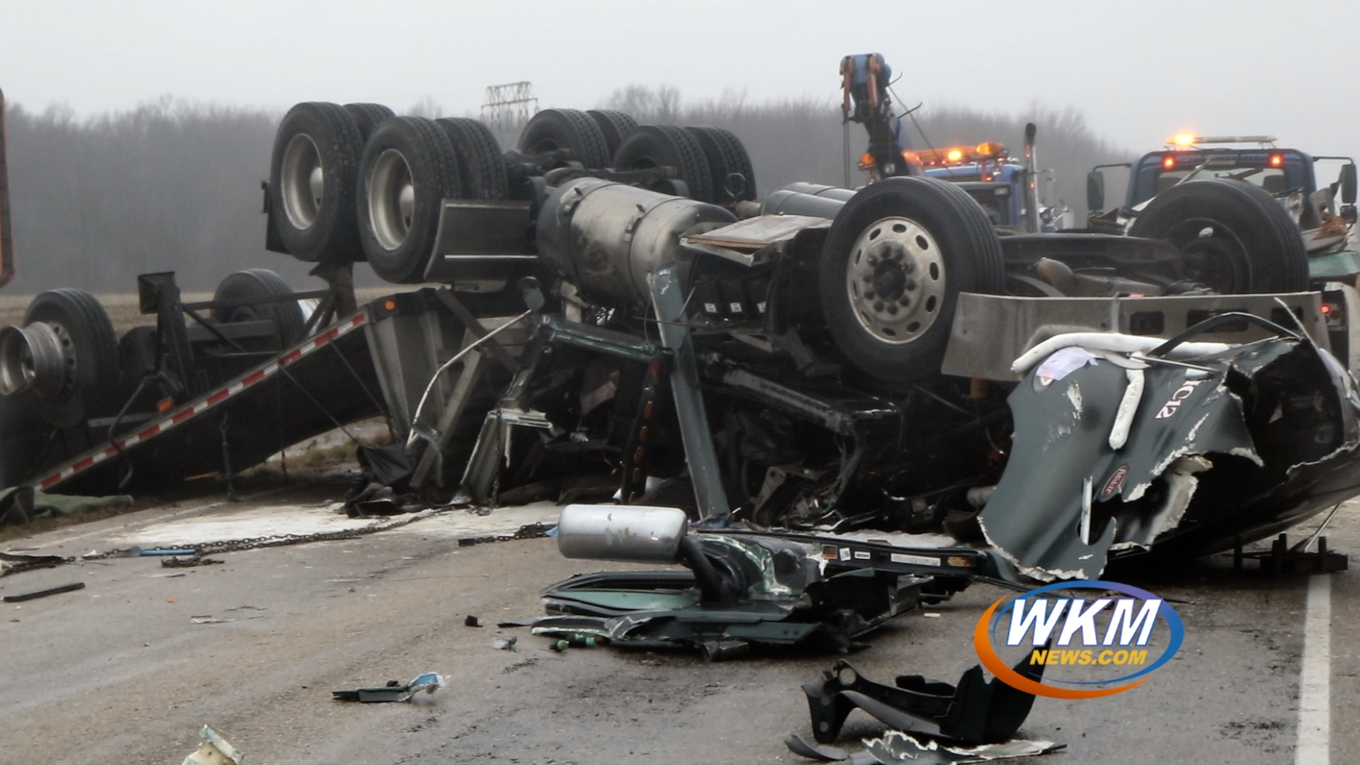 Semi Crash Closes Section of US 421 for Hours