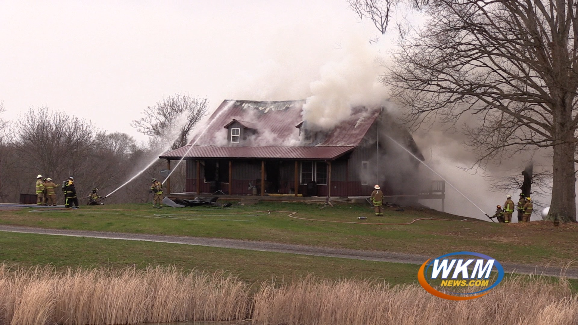 Several Local Fire Departments Assist at Milton Home Full of Flames