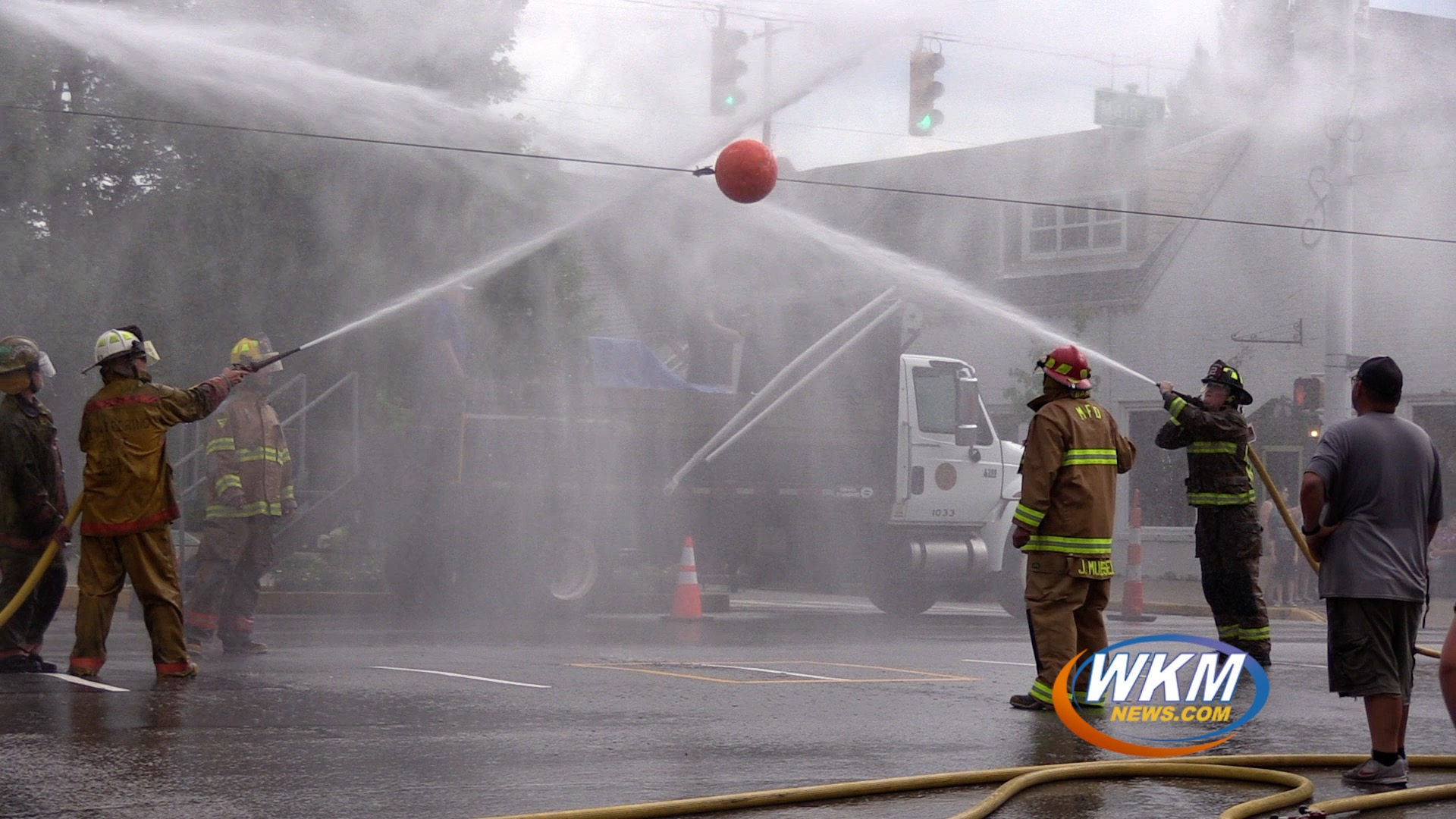 Regatta 2021: Fire Stations Compete For First Place in Water Ball Competition