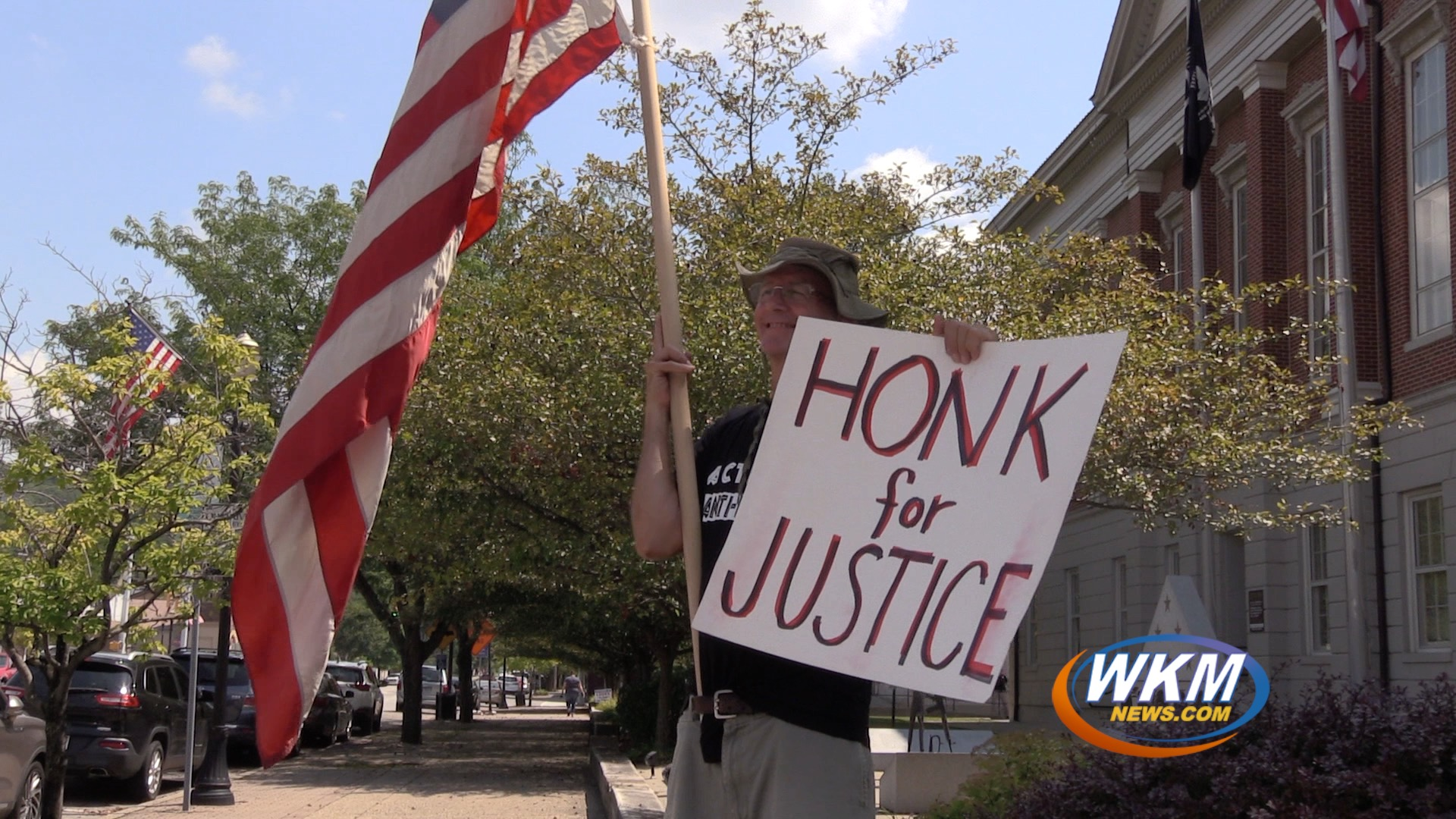 Local Activists Hold Weekly Peaceful Protest at Courthouse