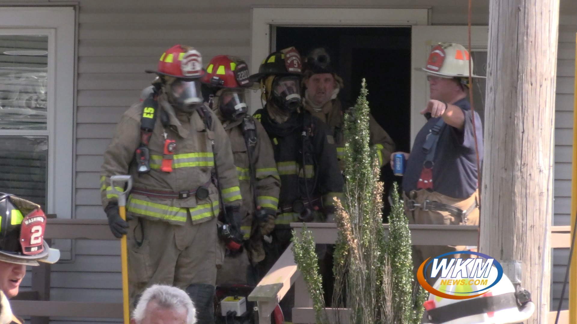 Firefighters Extinguish Electrical Fire During Heat Advisory