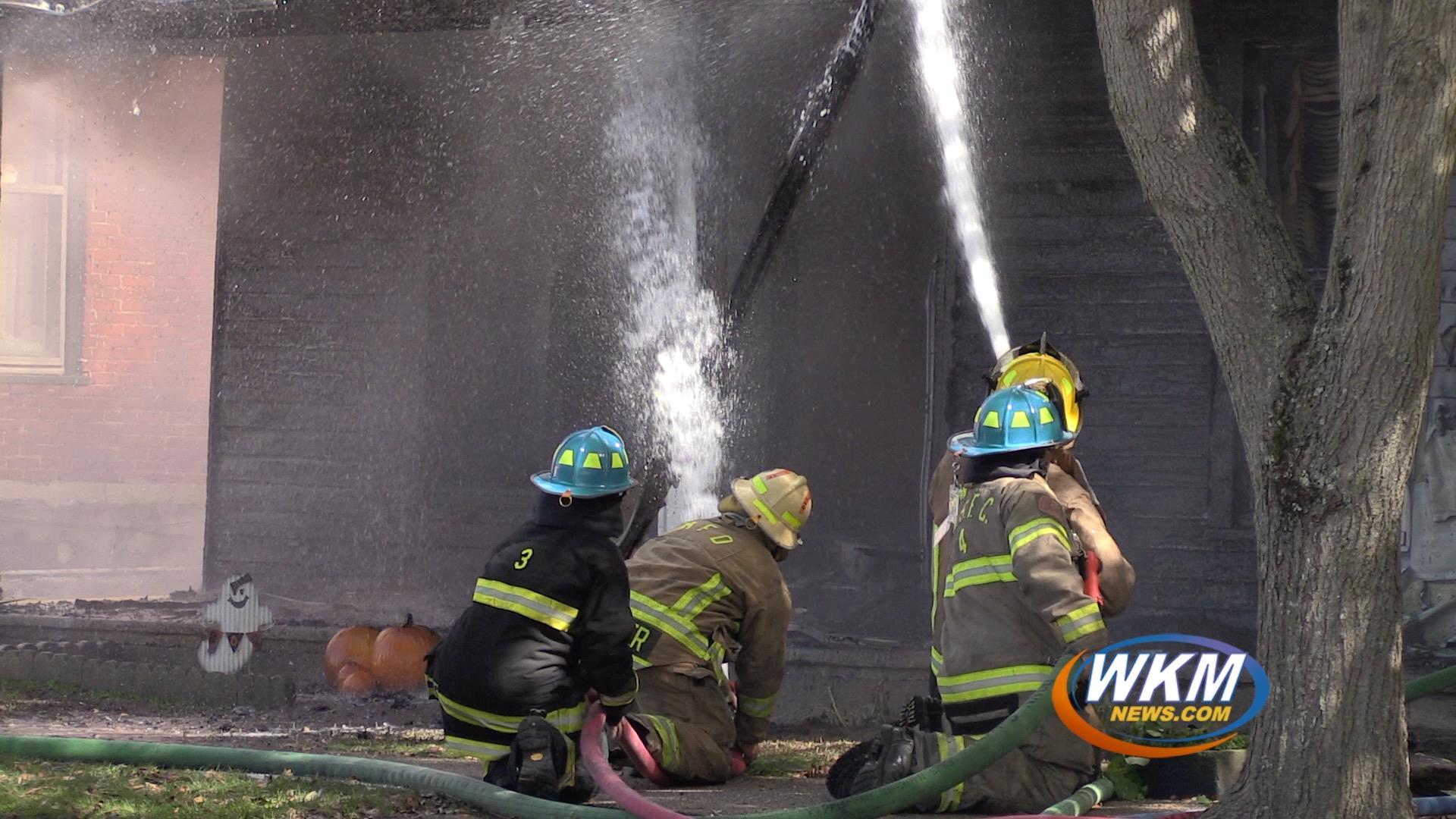 Fire Engulfs Two-Story Duplex on St. Michaels Avenue