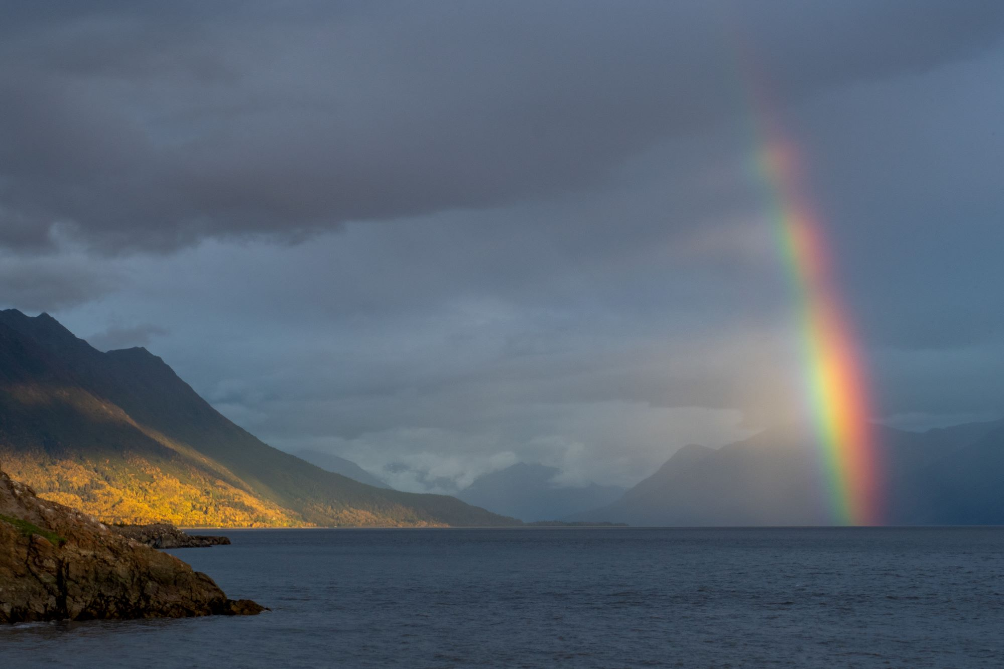 Rainbow over Turnagain Arm