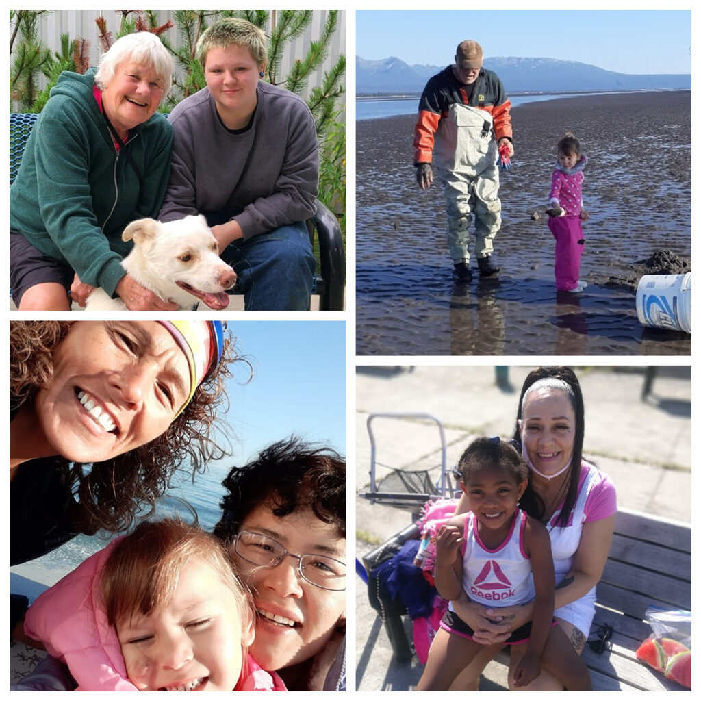 A few of our Kinship caregivers with their children.