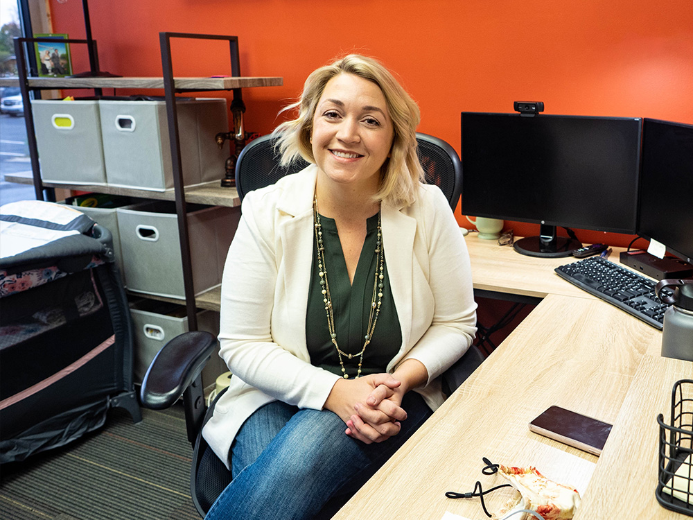 Portrait of CEO Sherrie Hinshaw in her office